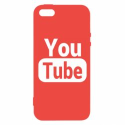 Чохол для iphone 5/5S/SE Youtube vertical logo
