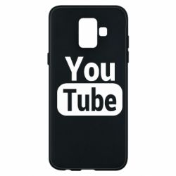 Чохол для Samsung A6 2018 Youtube vertical logo