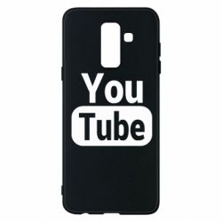 Чохол для Samsung A6+ 2018 Youtube vertical logo