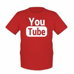 Дитяча футболка Youtube vertical logo
