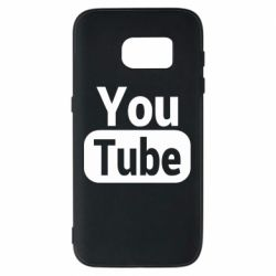 Чохол для Samsung S7 Youtube vertical logo