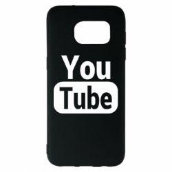 Чохол для Samsung S7 EDGE Youtube vertical logo