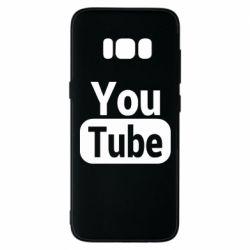 Чохол для Samsung S8 Youtube vertical logo