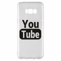 Чохол для Samsung S8+ Youtube vertical logo