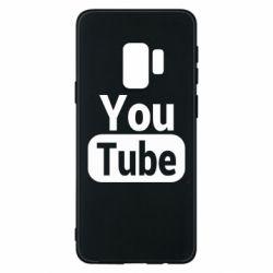 Чохол для Samsung S9 Youtube vertical logo
