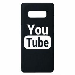 Чохол для Samsung Note 8 Youtube vertical logo
