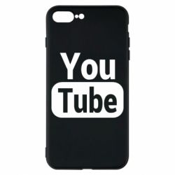 Чохол для iPhone 8 Plus Youtube vertical logo
