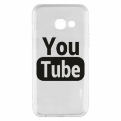Чохол для Samsung A3 2017 Youtube vertical logo