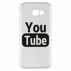 Чохол для Samsung A5 2017 Youtube vertical logo