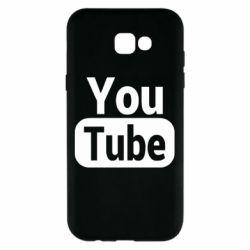 Чохол для Samsung A7 2017 Youtube vertical logo