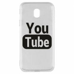 Чохол для Samsung J3 2017 Youtube vertical logo