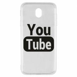 Чохол для Samsung J7 2017 Youtube vertical logo