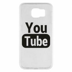 Чохол для Samsung S6 Youtube vertical logo