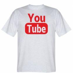 Чоловіча футболка Youtube vertical logo