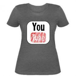 Жіноча футболка YouTube