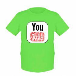 Дитяча футболка YouTube