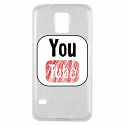 Чохол для Samsung S5 YouTube