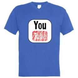 Чоловіча футболка з V-подібним вирізом YouTube