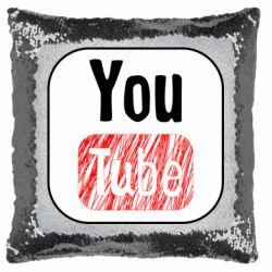 Подушка-хамелеон YouTube