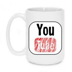 Кружка 420ml YouTube