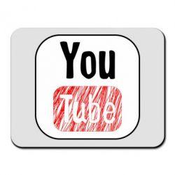 Килимок для миші YouTube