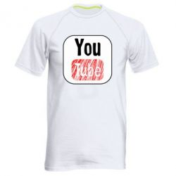 Чоловіча спортивна футболка YouTube