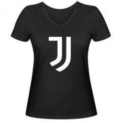 Женская футболка с V-образным вырезом Ювентус