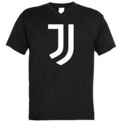 Мужская футболка  с V-образным вырезом Ювентус