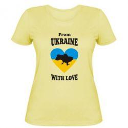Женская футболка З України з любовью