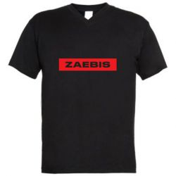 Мужская футболка  с V-образным вырезом Zaebis