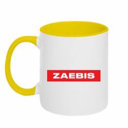 Кружка двухцветная 320ml Zaebis