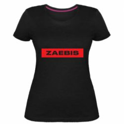 Женская стрейчевая футболка Zaebis