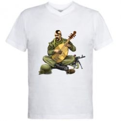 Мужская футболка  с V-образным вырезом Zahisnik