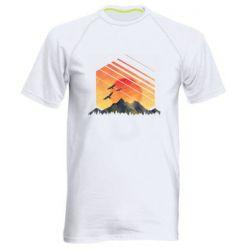Чоловіча спортивна футболка Захід Геометрія