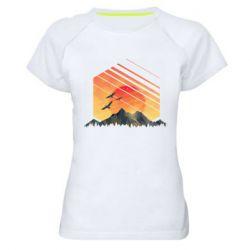Жіноча спортивна футболка Захід Геометрія