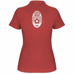 Жіноча футболка поло Зоря Луганськ лого