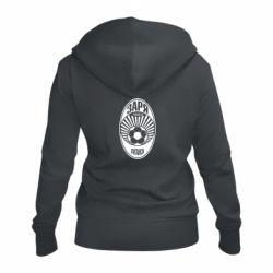Жіноча толстовка на блискавці Зоря Луганськ лого