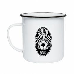 Кружка емальована Зоря Луганськ лого