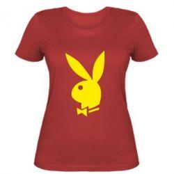 Женская футболка Заяц Playboy - FatLine