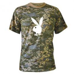 Камуфляжная футболка Заяц Playboy - FatLine
