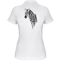 Женская футболка поло Зебра
