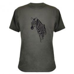 Камуфляжная футболка Зебра - FatLine