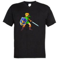 Мужская футболка  с V-образным вырезом Zelda
