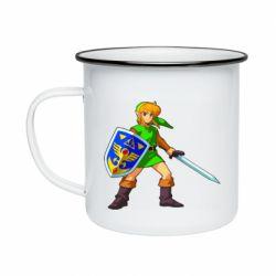 Кружка эмалированная Zelda