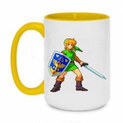 Кружка двухцветная 420ml Zelda