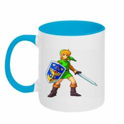 Кружка двухцветная 320ml Zelda