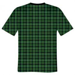 Чоловіча 3D футболка Зелений в клітку - FatLine