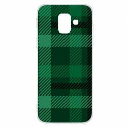 Чохол для Samsung A6 2018 Зелений в клітку - FatLine