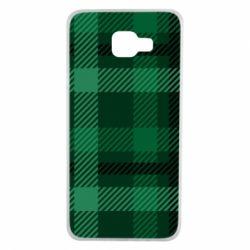 Чохол для Samsung A7 2016 Зелений в клітку - FatLine