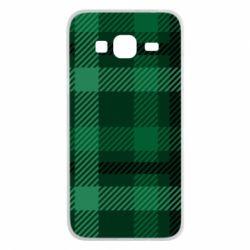 Чохол для Samsung J3 2016 Зелений в клітку - FatLine